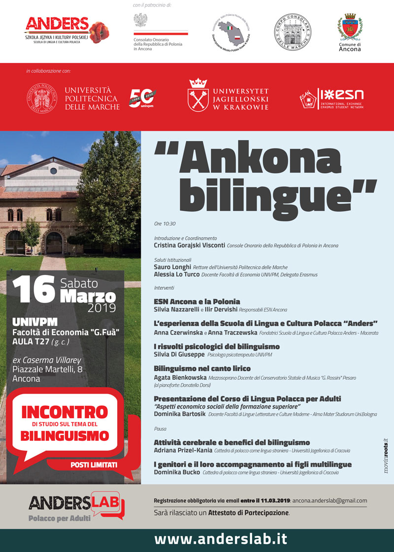 Anders lab ankona bilingue conferenza bilinguismo Ancona Marche